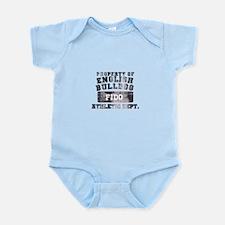 Personalized Property of English Bulldog Infant Bo