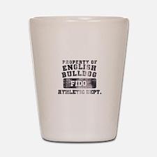 Personalized Property of English Bulldog Shot Glas