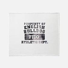 Personalized Property of English Bulldog Stadium