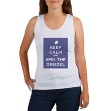 Keep Calm and Spin the Dreidel Women's Tank Top