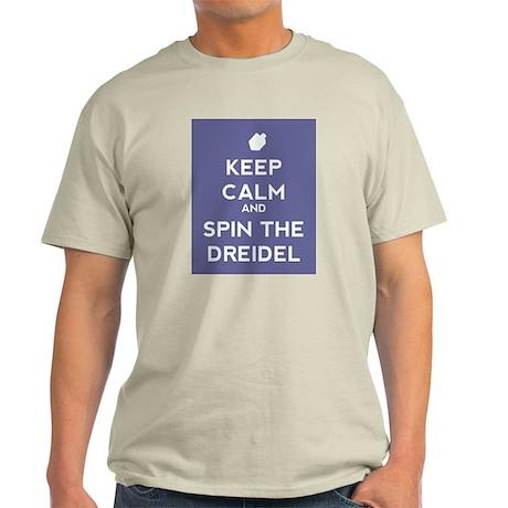 Keep Calm and Spin the Dreidel Light T-Shirt