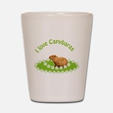 I love Capybaras Shot Glass