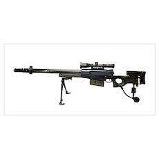 AW50 anti-materiel bolt-action .50 caliber rifle Poster