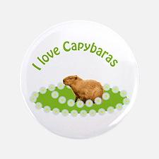 """I love Capybaras 3.5"""" Button"""