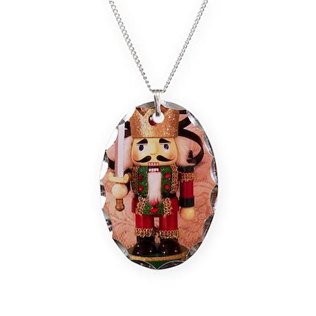 Holiday Nutcracker Necklace Oval Charm
