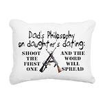 Dad's Philosophy Rectangular Canvas Pillow