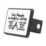 Dad's Philosophy Rectangular Hitch Cover