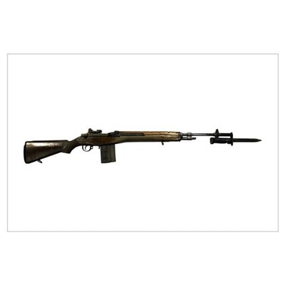 M14 rifle, developed from the M1 Garand Poster