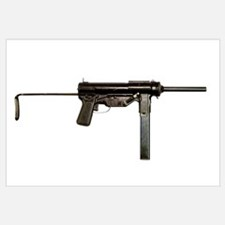 M3 Submachine Gun, 45 caliber. The M3 was commonly