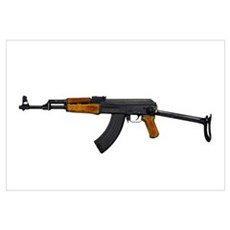 Russian AK-47 assault rifle with folding metal but Canvas Art