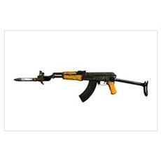 Russian AK-47 assault rifle with folding metal but Poster