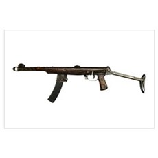 Russian PPS-43 submachine gun with stock extended Poster