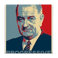 "LBJ - ""Progressive"" Tile Coaster"