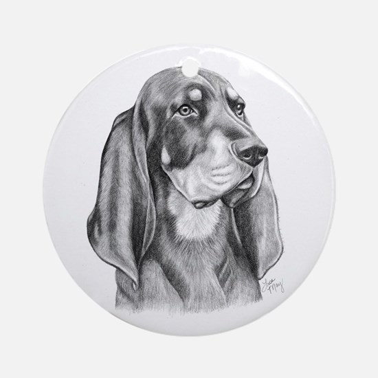 Black and Tan Coon Hound Ornament (Round)