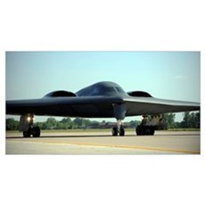 A B-2 Spirit taxis onto the flightline at Whiteman Canvas Art