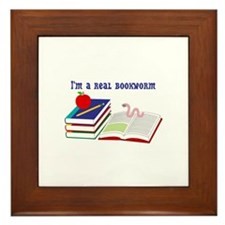 Im a real bookworm Framed Tile