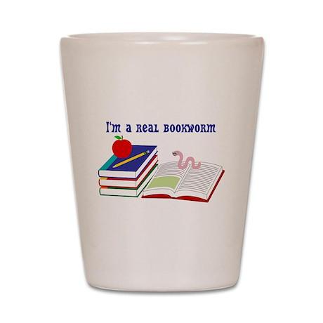 Im a real bookworm Shot Glass