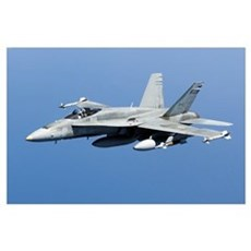 A CF-188A Hornet of the Royal Canadian Air Force Poster