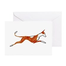 Leaping Ibizan Hound Greeting Cards (Pk of 20)