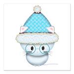 Cute Kitten in Winter Hat Square Car Magnet 3