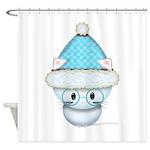 Cute Kitten in Winter Hat Shower Curtain