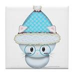 Cute Kitten in Winter Hat Tile Coaster