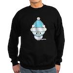 Cute Kitten in Winter Hat Sweatshirt (dark)