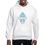 Cute Kitten in Winter Hat Hooded Sweatshirt