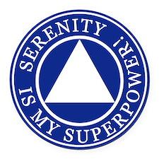 Serenity Superpower Round Car Magnet