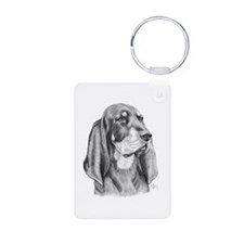Black and Tan Coon Hound Keychains