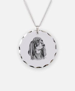 Black and Tan Coon Hound Necklace