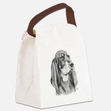 Black and Tan Coon Hound Canvas Lunch Bag