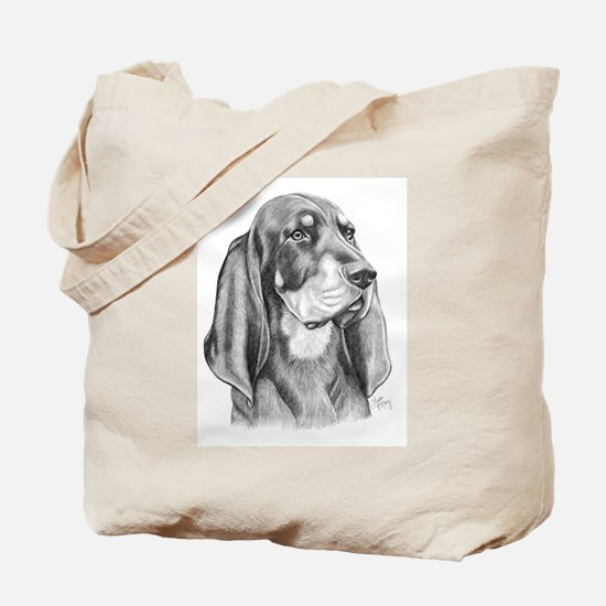 Black and Tan Coon Hound Tote Bag