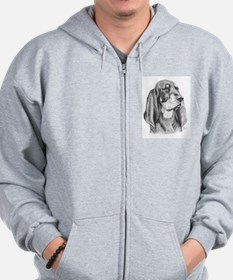 Black and Tan Coon Hound Zip Hoodie