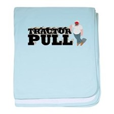 Tractor Pull T-Shirt baby blanket