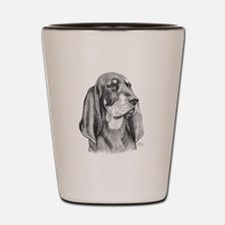 Black and Tan Coon Hound Shot Glass