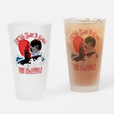 Half My Heart Drinking Glass