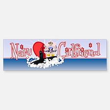 Navy Girlfriend Bumper Bumper Sticker