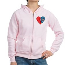 2-Sided Half My Heart Zip Hoodie