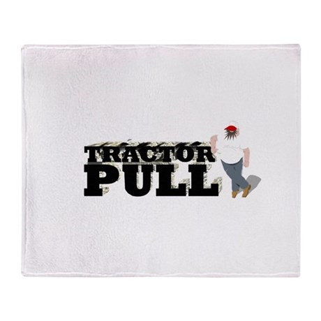 Tractor Pull Logo Throw Blanket