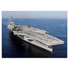 Aircraft carrier USS Carl Vinson Poster