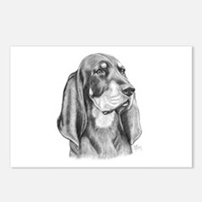 Black and Tan Coon Hound Postcards (Package of 8)