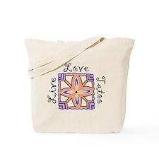 Live Love Tatoo Tote Bag