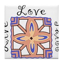 Live Love Tatoo Tile Coaster