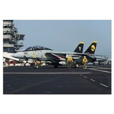 An F-14D Tomcat of VF-31 Tomcatters (Carrier Air W Framed Print