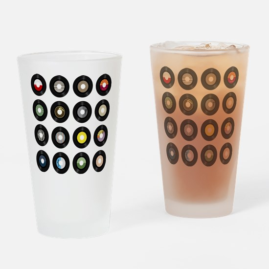 Records Drinking Glass