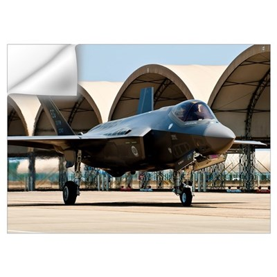 An F-35 Lightning II taxiing at Eglin Air Force Ba Wall Decal