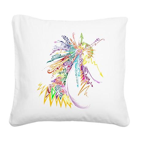 colour explotion Square Canvas Pillow