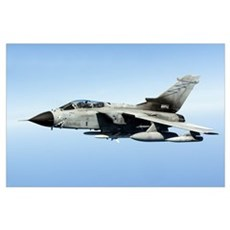 An Italian Air Force Panavia Tornado IDS armed wit Poster