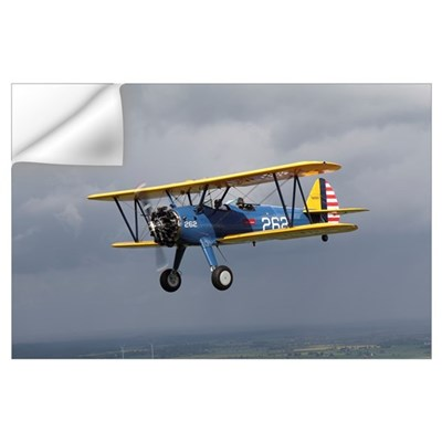 Boeing Stearman Model 75 Kaydet in U.S. Army color Wall Decal
